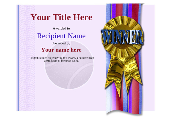 certificate-template-tennis-modern-4dwrg Image