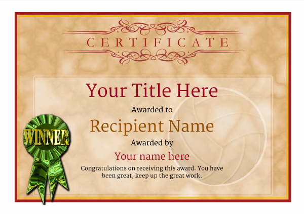 certificate-template-volley-ball-classic-1dwrg Image