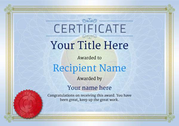certificate-template-volley-ball-classic-4bvsr Image