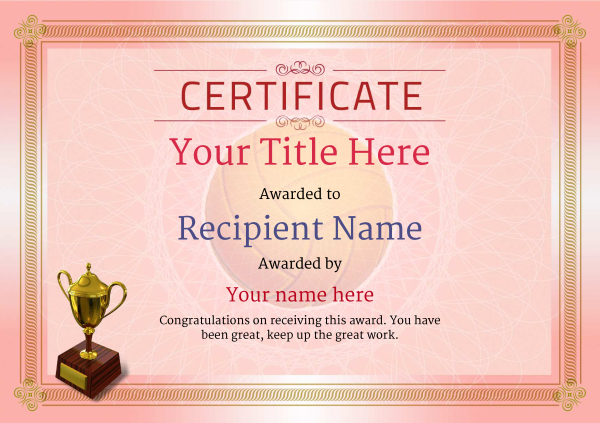 certificate-template-volley-ball-classic-4rt3g Image