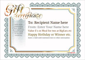 gift certificate template classic design 3 full page Image