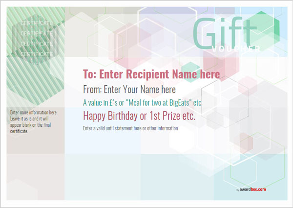 Free gift voucher template designs to print or download free gift voucher templates saigontimesfo