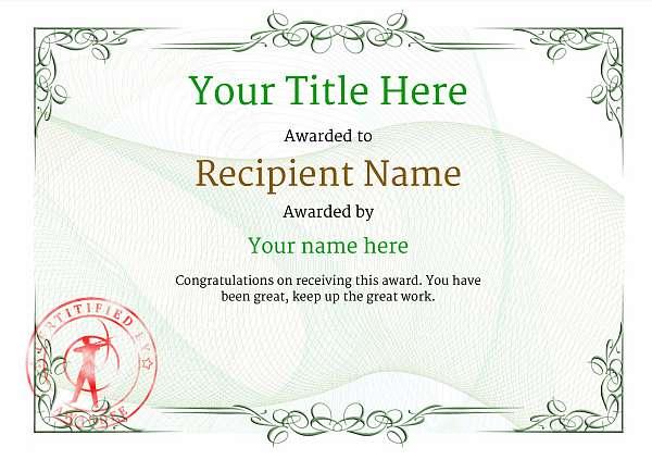 certificate-template-archery-classic-2gasr Image