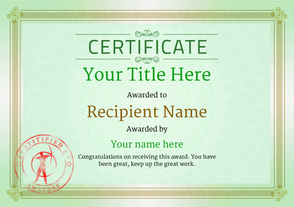 certificate-template-archery-classic-4gasr Image