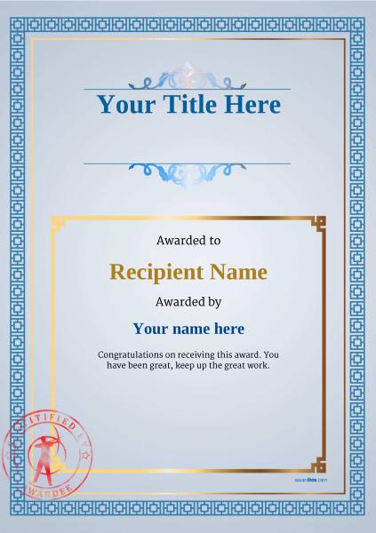 certificate-template-archery-classic-5basr Image