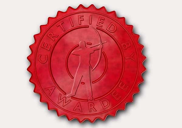 certificate-template-archery-modern-4-grey-rasr Image