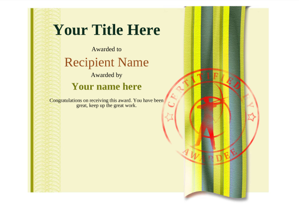 certificate-template-archery-modern-4yasr Image