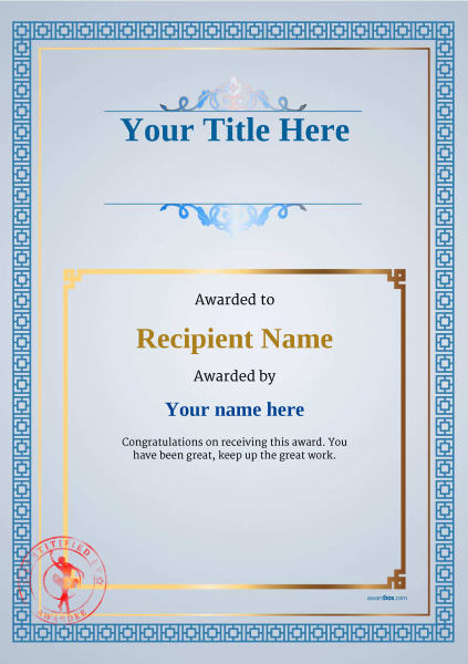 certificate-template-ballet-classic-5bbsr Image