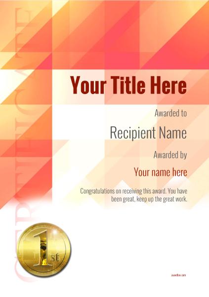 certificate-template-ballet-modern-2r1mg Image