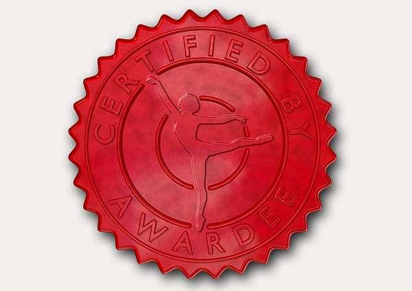 certificate-template-ballet-modern-3-grey-gbsr Image