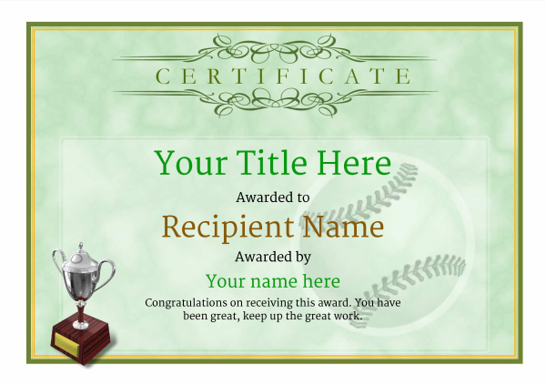 Use free baseball certificate templates by awardbox certificate template baseballthumbs classic 1gt3s image yadclub Choice Image