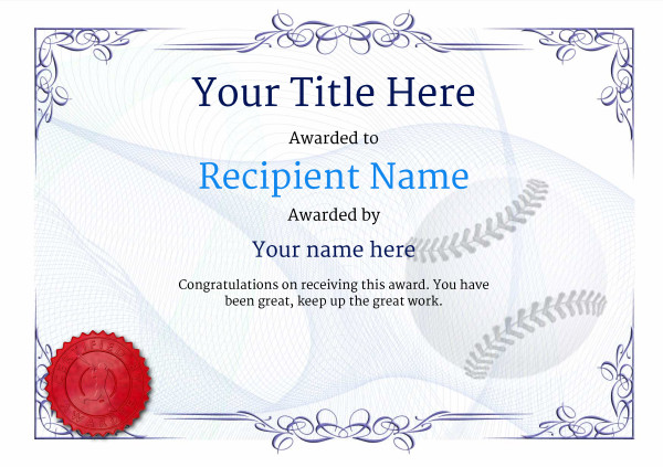 Use free baseball certificate templates by awardbox certificate template baseballthumbs classic 2bbsr image yadclub Choice Image