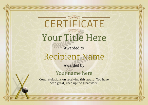 Use free baseball certificate templates by awardbox certificate template baseballthumbs classic 4dbbn image toneelgroepblik Images