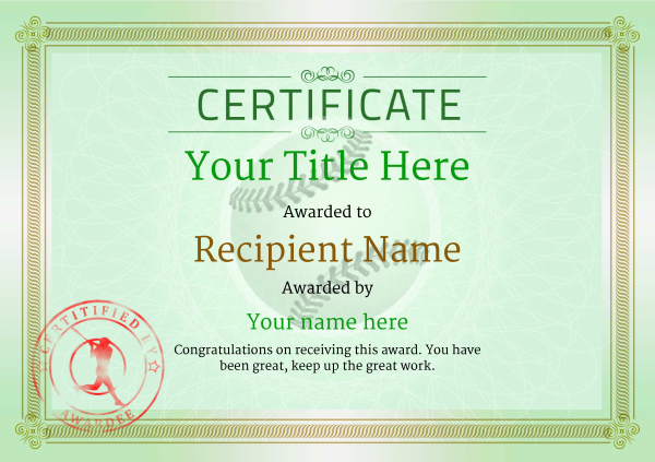 Use free baseball certificate templates by awardbox certificate template baseballthumbs classic 4gbsr image yadclub Choice Image