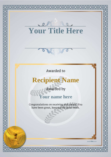 Use free baseball certificate templates by awardbox certificate template baseballthumbs classic 5dbmg image yadclub Choice Image