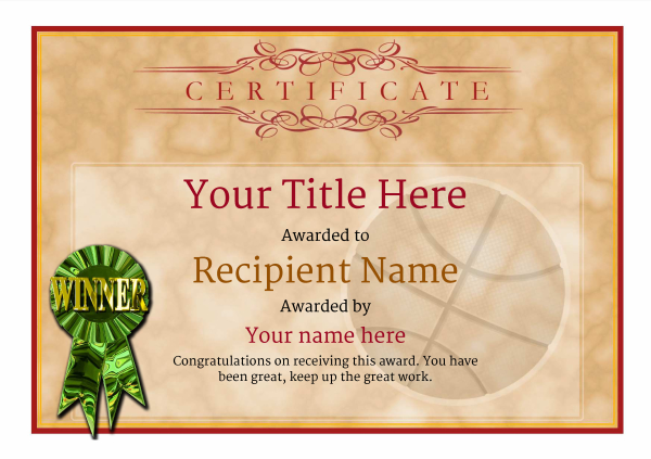 certificate-template-basketball-classic-1dwrg Image