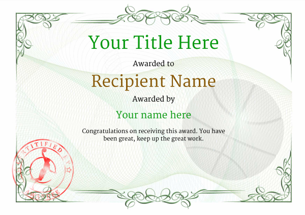 certificate-template-basketball-classic-2gbsr Image