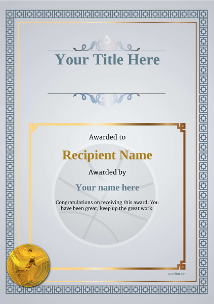 certificate-template-basketball-classic-5dbmg Image