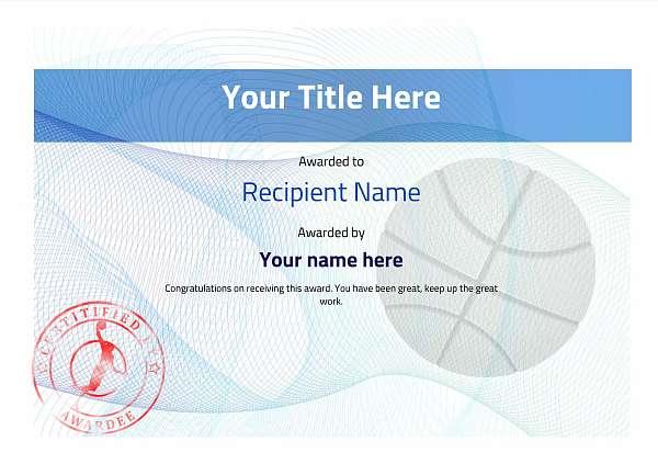 certificate-template-basketball-modern-3bbsr Image