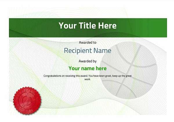 certificate-template-basketball-modern-3gbsr Image