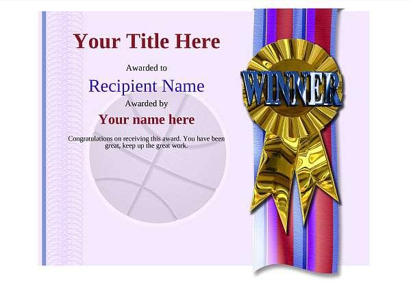 certificate-template-basketball-modern-4dwrg Image