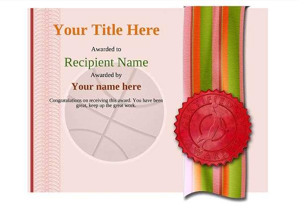 certificate-template-basketball-modern-4rbsr Image