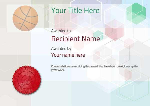 certificate-template-basketball-modern-5dbsr Image