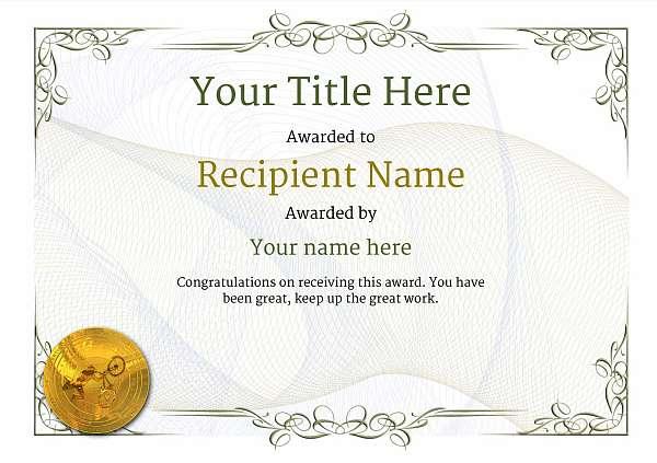 certificate-template-bmx-classic-2dbmg Image