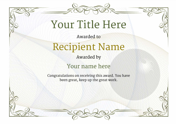 certificate-template-bowling-classic-2dbnn Image