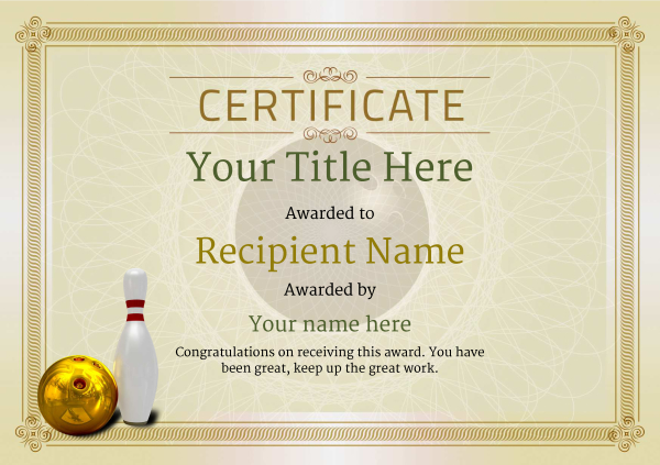 certificate-template-bowling-classic-4dbnn Image