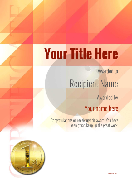 certificate-template-bowling-modern-2r1mg Image
