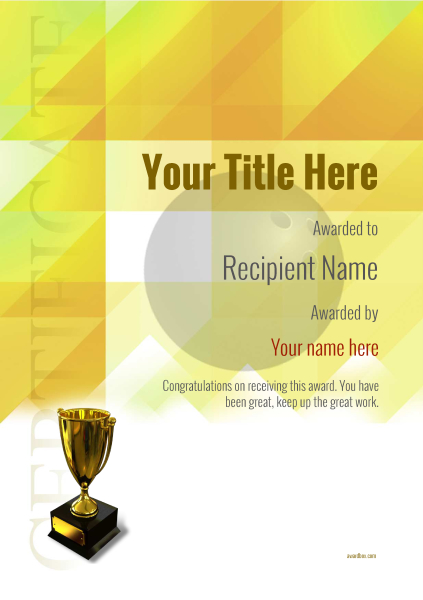 certificate-template-bowling-modern-2yt5g Image