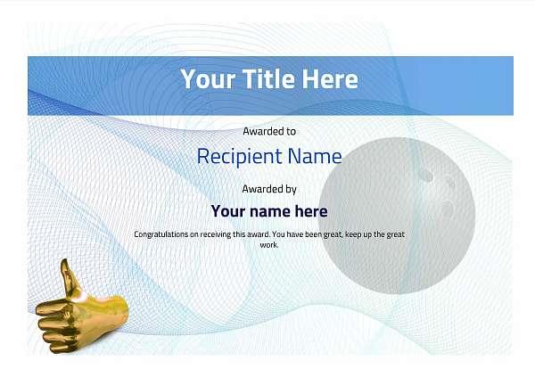certificate-template-bowling-modern-3btnn Image