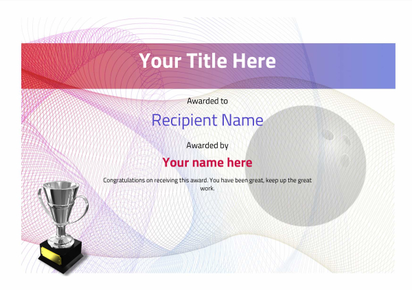 certificate-template-bowling-modern-3dt4s Image