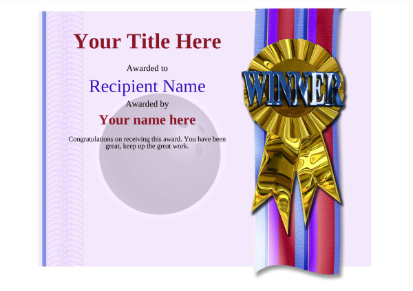 certificate-template-bowling-modern-4dwrg Image