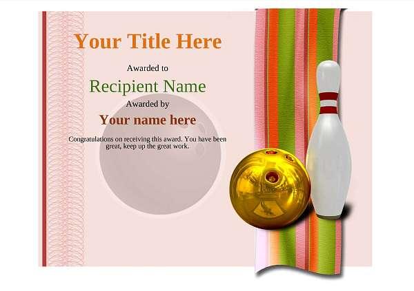 Free ten pin bowling certificate templates inc printable badges medals certificate template bowling modern 4rbnn image yadclub Images