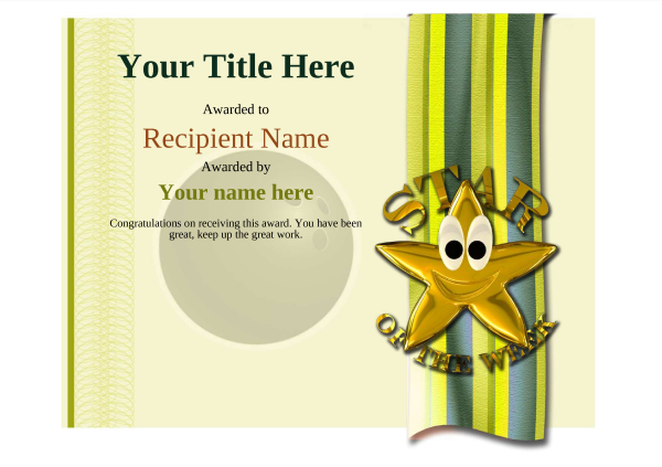 certificate-template-bowling-modern-4ysnn Image