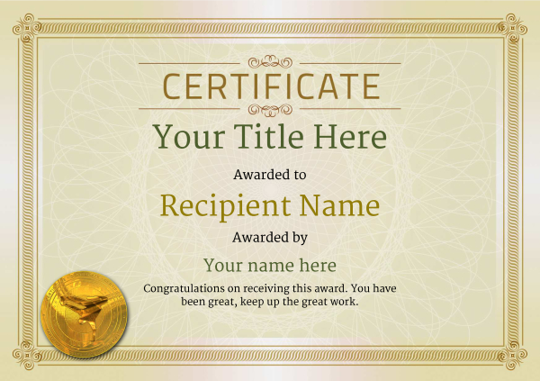 certificate-template-breakdance-classic-4dbmg Image