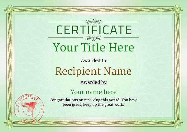 certificate-template-breakdance-classic-4gbsr Image