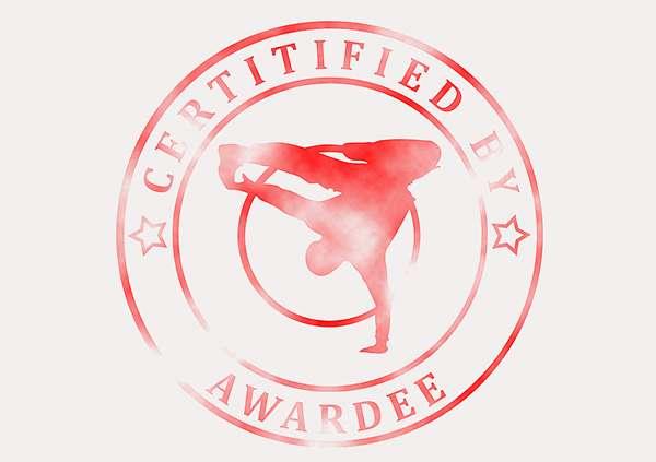 certificate-template-breakdance-modern-3-grey-bbsr Image