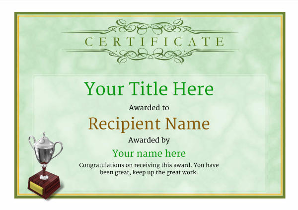 certificate-template-clay-shooting-classic-1gt3s Image