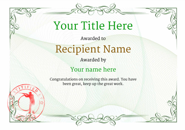 certificate-template-clay-shooting-classic-2gcsr Image