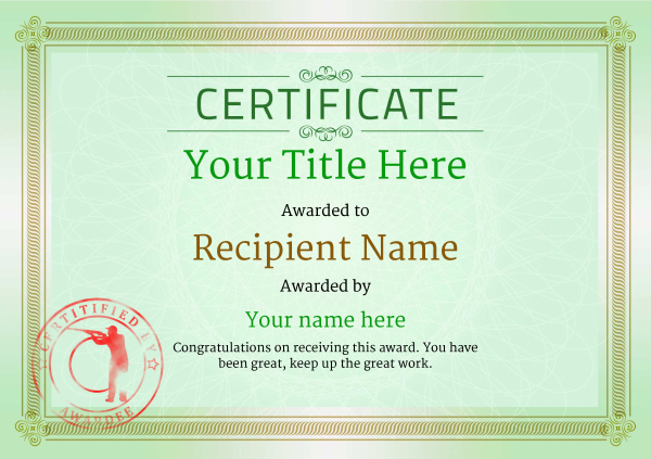 certificate-template-clay-shooting-classic-4gcsr Image