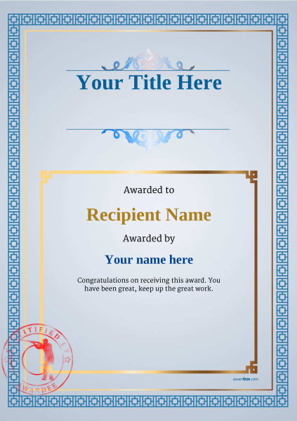 certificate-template-clay-shooting-classic-5bcsr Image