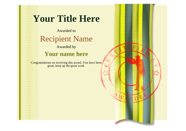 certificate-template-clay-shooting-modern-4ycsr Image