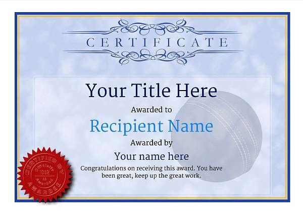certificate-template-cricket-classic-1bcsr Image