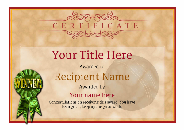 certificate-template-cricket-classic-1dwrg Image
