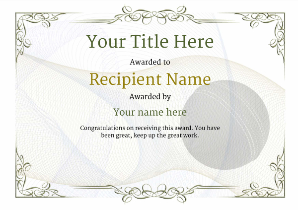 certificate-template-cricket-classic-2dbnn Image