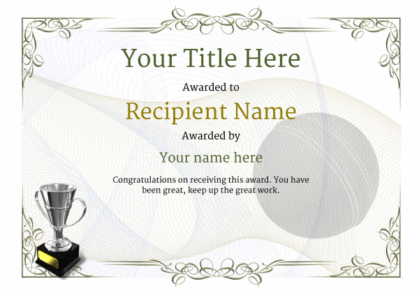 certificate-template-cricket-classic-2dt4s Image