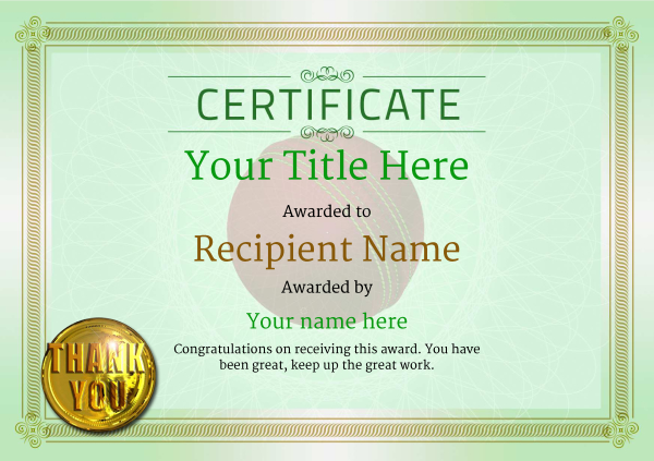 certificate-template-cricket-classic-4gtmg Image